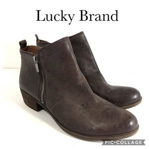 Lucky Brand Basal brown ankle booties 10M